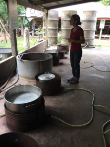 The dying vats for the silk